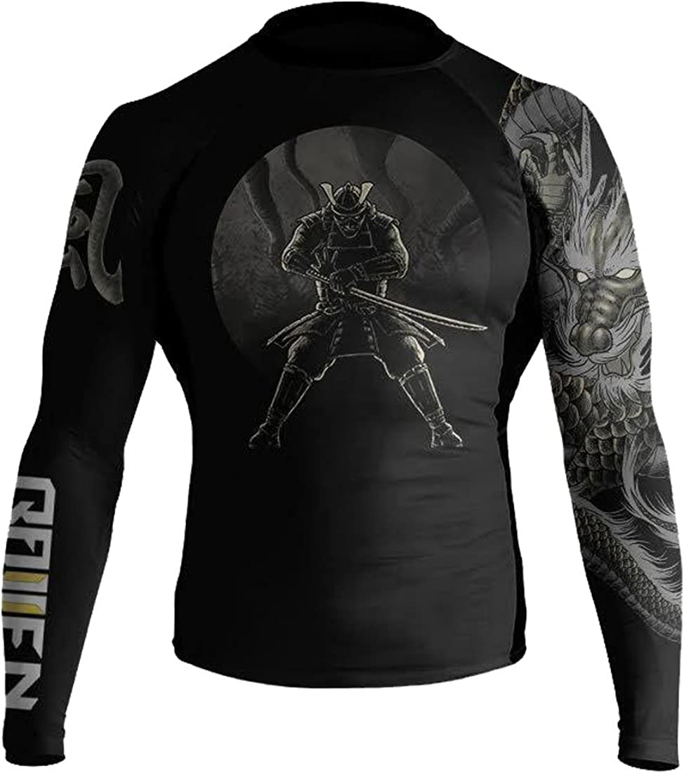 Raven Fightwear Mens Wind Element BJJ MMA Rash Guard