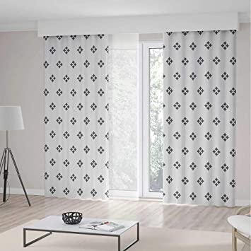 Amazon.com: iPrint - Cortinas largas geométricas, diseño de ...