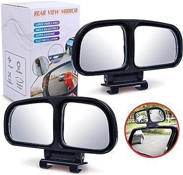 Biqing Seitenspiegel Toter Winkel Toter Winkel Spiegel Auto Blind Spot Spiegel Einstellbare Rückspiegel Konvexen Toter Winkel Spiegel Hilfe Blind Spot Für Alle Arten Von Fahrzeugen Links Rechts Auto