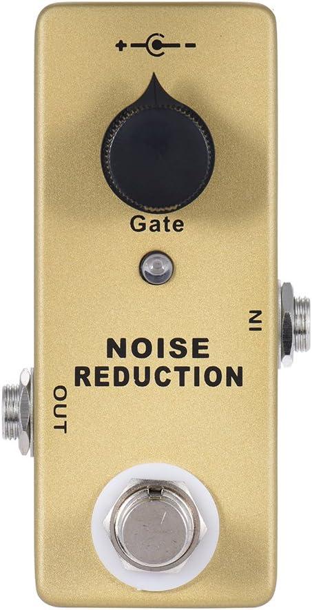 ammoon Pedal de Efecto de Guitarra MOSKY MP-40 Puerta de Ruido Supresor de Reducción de Ruido Mini Single True Bypass Color Oro