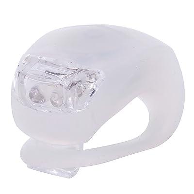 3modes 2-led lumière blanc Fermeture Lacets lumière de vélo Porte-clés–Blanc