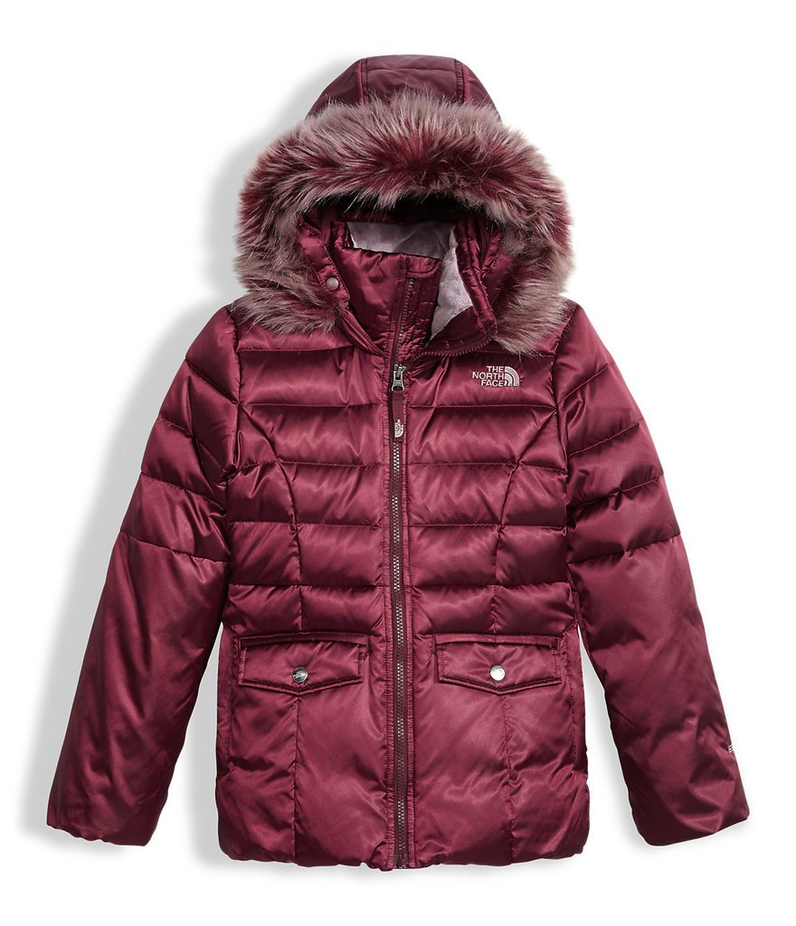 The North Face girls GOTHAM 2.0 DOWN JACKET NF0A34V9H5G_XS - ZINFANDEL RED by The North Face