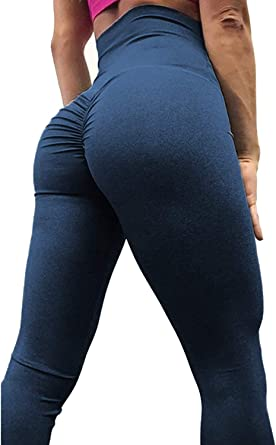 Womens High Waisted Gym Yoga Pants Workout Ruched Butt Lift Sport Gym Trousers