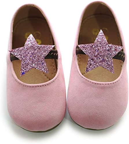 GIRLS CHILDRENS KIDS ANKLE STRAP GLITTER POM POM LOAFERS PARTY SHOES SIZE