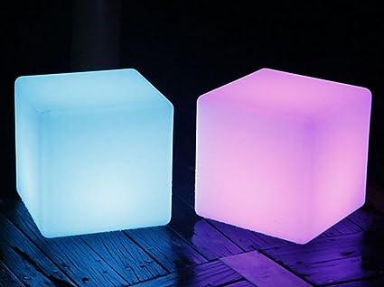 Sgabello Da Bar Esterno : Sgabello leggero da esterno a led light cube sgabello da bar