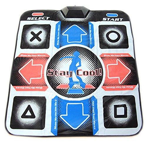YI XUAN USB RCA Non-Slip Dancing Step Dance Mat Pad for PC TV AV Video Game