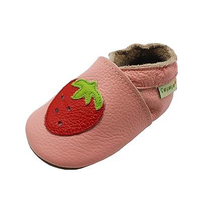 Amazon.com: Sayoyo Baby Fresa Soft Suela de piel Infant bebé ...