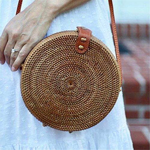 - Summer Rattan Bag Pure Handmade Qiuteng Basket Exotic Scenery Rattan Basket Bag
