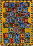 rugs 4 Less Collection Kids Area Rugs (3'3''x4'10'', Alphabet ABC Blocks)
