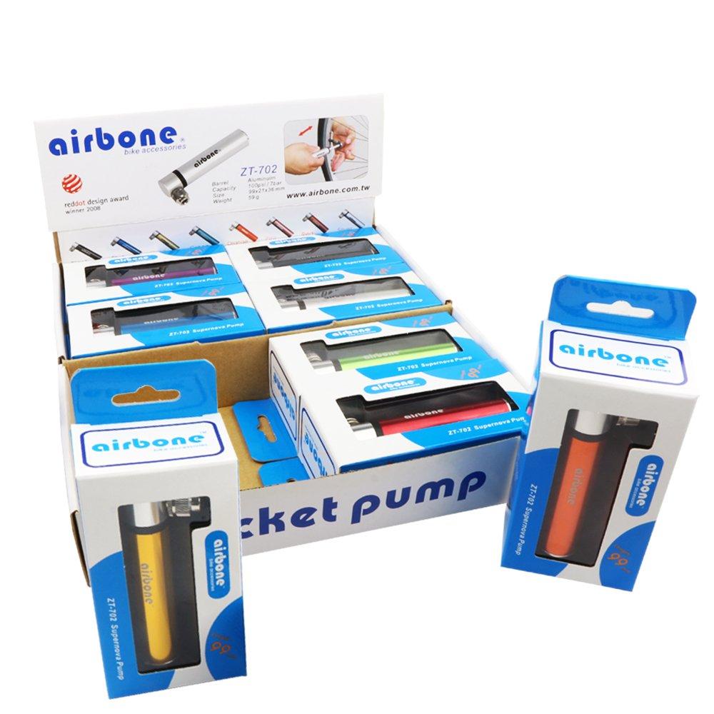 Airbone 2191203090 Minipumpe, schwarz, 12 x 2 x 2 cm