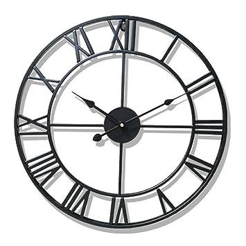 Aero caracol Vintage Retro País estilo Metal ligero reloj de pared decoración para el hogar relojes: Amazon.es: Hogar
