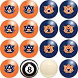 Imperial Officially Licensed NCAA Merchandise: Home vs. Away Billiard/Pool Balls, Complete 16 Ball Set, Auburn Tigers