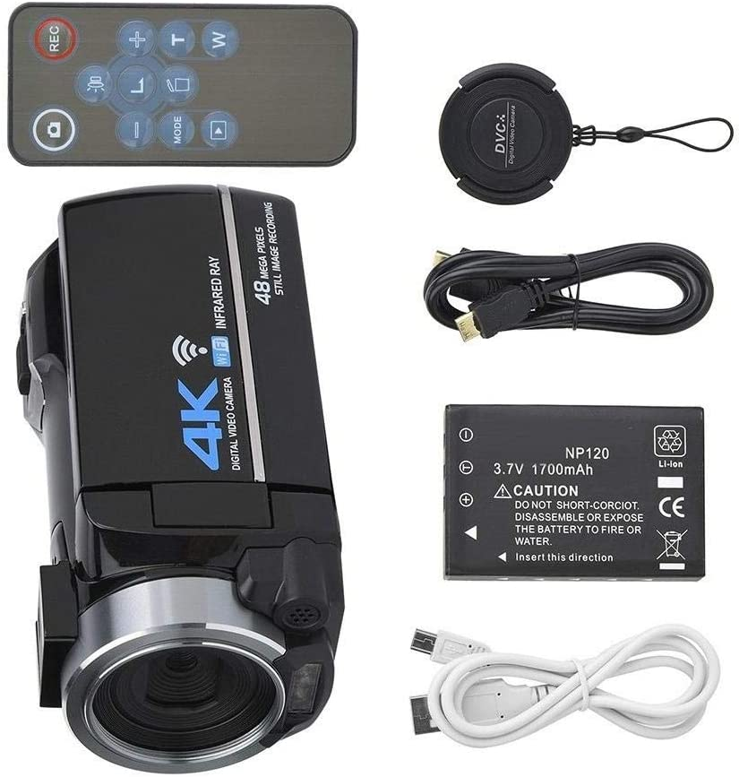 3 Inch IPS Screen 48MP HD Digital Video Camera 4K Camcorder 16X ...