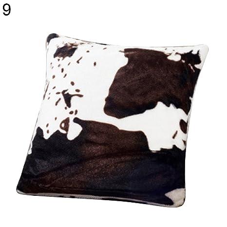 Amazon.com: Funda de cojín de felpa suave y cómoda, diseño ...