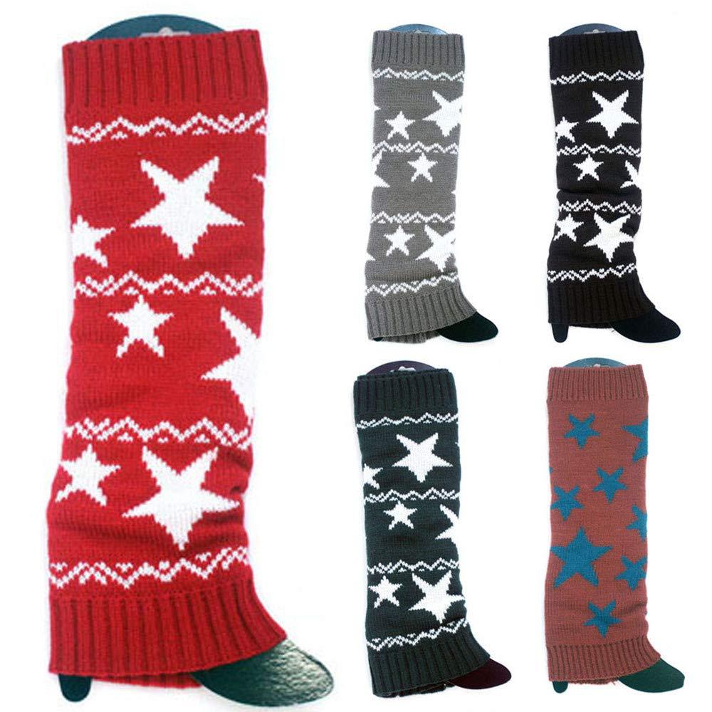 BHYDRY Calentadores de invierno de punto para mujer Calzas de punto Crochet Leggings Slouch Boot Calcetines: Amazon.es: Ropa y accesorios