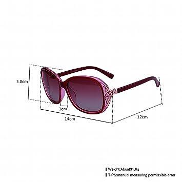 Fashion Trend Gläser Weibliche Sonnenbrille , Lila Weiß