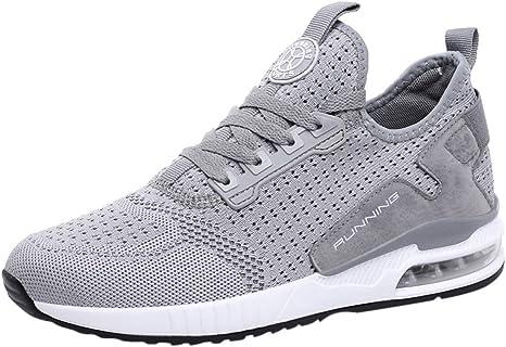 Zapatillas de Running para Hombre Aire Libre y Deporte Transpirables Moda Casual Zapatos Gimnasio Correr Sneakers Zapatos para Correr vpass: Amazon.es: Ropa y accesorios