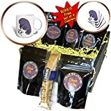 3dRose All Smiles Art Sports and Hobbies - Cute Funny Manatee Playing Soccer Cartoon - Coffee Gift Baskets - Coffee Gift Basket (cgb_281385_1)
