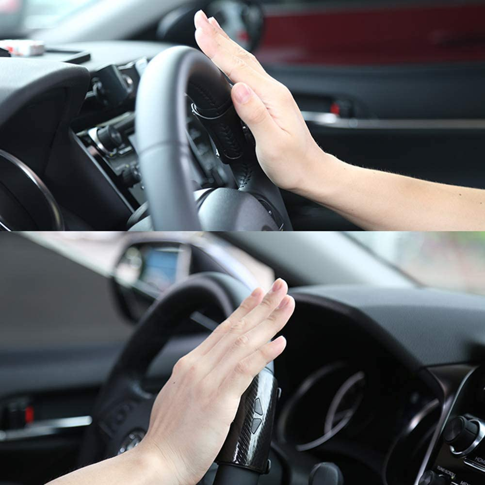 Biqing Perilla del volante,Universales Silicona Pomo del Volante Perilla Spinner del Giratorio de Volante para Coche Volante Handle Knob Handle Steering Ball Accesorios para el Coche Negro