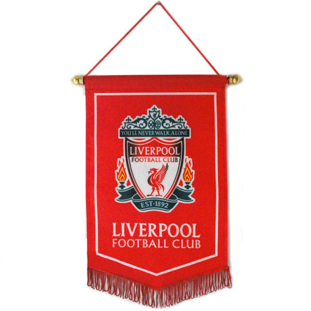 ZQfans Liverpool FC Indoor and Outdoor Flags Bar//Club//Bedroom Decoration Hanging Flags