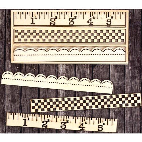 サンライズ サンセット レーザー カット木材のアイコン A ボックス装飾境界線 1.5」9/Pkg   B00BJDMQ2W