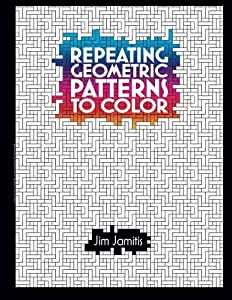 50 coloring pages with mesmerizing repeating geometric patterns. Use your imagination and find the patterns within the patterns. The designs vary from simple to complex so there is something for every mood or skill level. Use your imagination...
