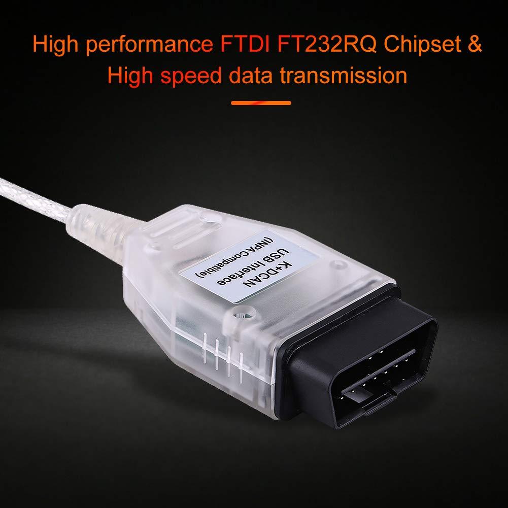 OBD2 USB-Kabel DCAN-Kabel OBD2 USB-Diagnoseanschlusskabel INPA OBDII USB-Schnittstellenkabel Auto K