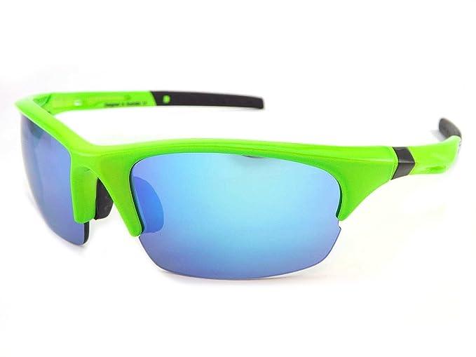 b7e89fbeda0d Dirty Dog Ecco Sports Sunglasses Fluro Green 58065  Amazon.co.uk  Clothing