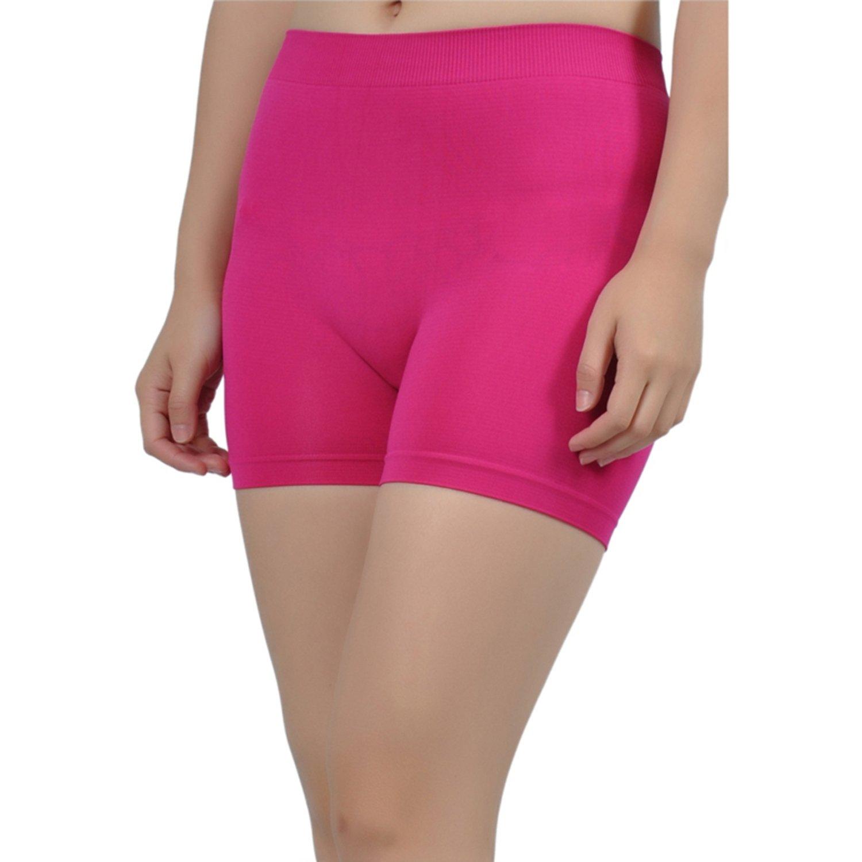 cf2aa23abc24ce Amazon.com: Soho Apparel Girls Seamless Lady Junior Shorts SS-12-Fuchsia  Nylon Spandex: Clothing