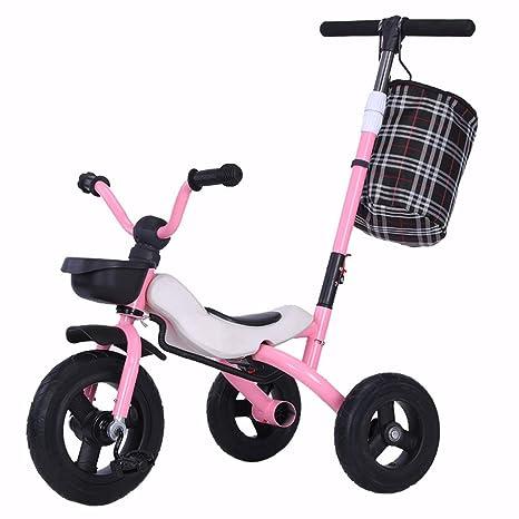 SONG Sillas de paseo Triciclo for Niños Bicicleta Plegable ...