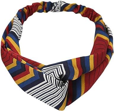YOMXL Womens Boho Headbands Wide Bohemian Knotted Yoga Headband Head Wrap Hair Band Elastic Hair Band Accessories