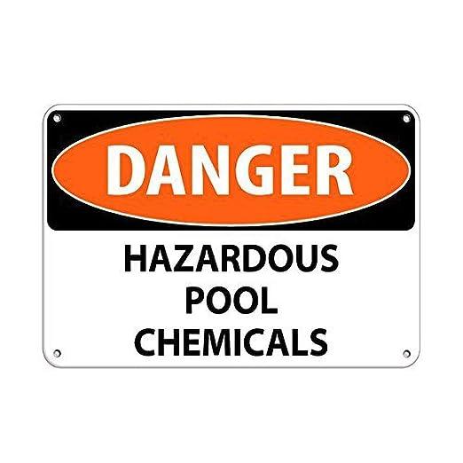 Tarfy Danger Hazardous Pool Chemicals Activity Sign Pool ...