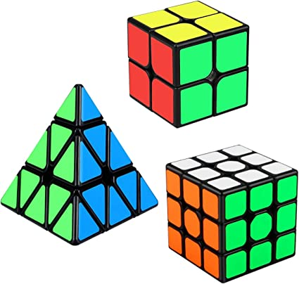 Aiduy Speed Cube Set, Cubo Triángulo Piramide 3x3 2x2 Cubo Mágico ...