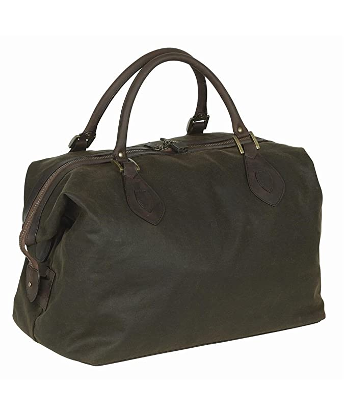 1ee17afd36a Barbour Waxed Cotton Medium Travel Explorer Bag - Olive: Amazon.co.uk:  Luggage