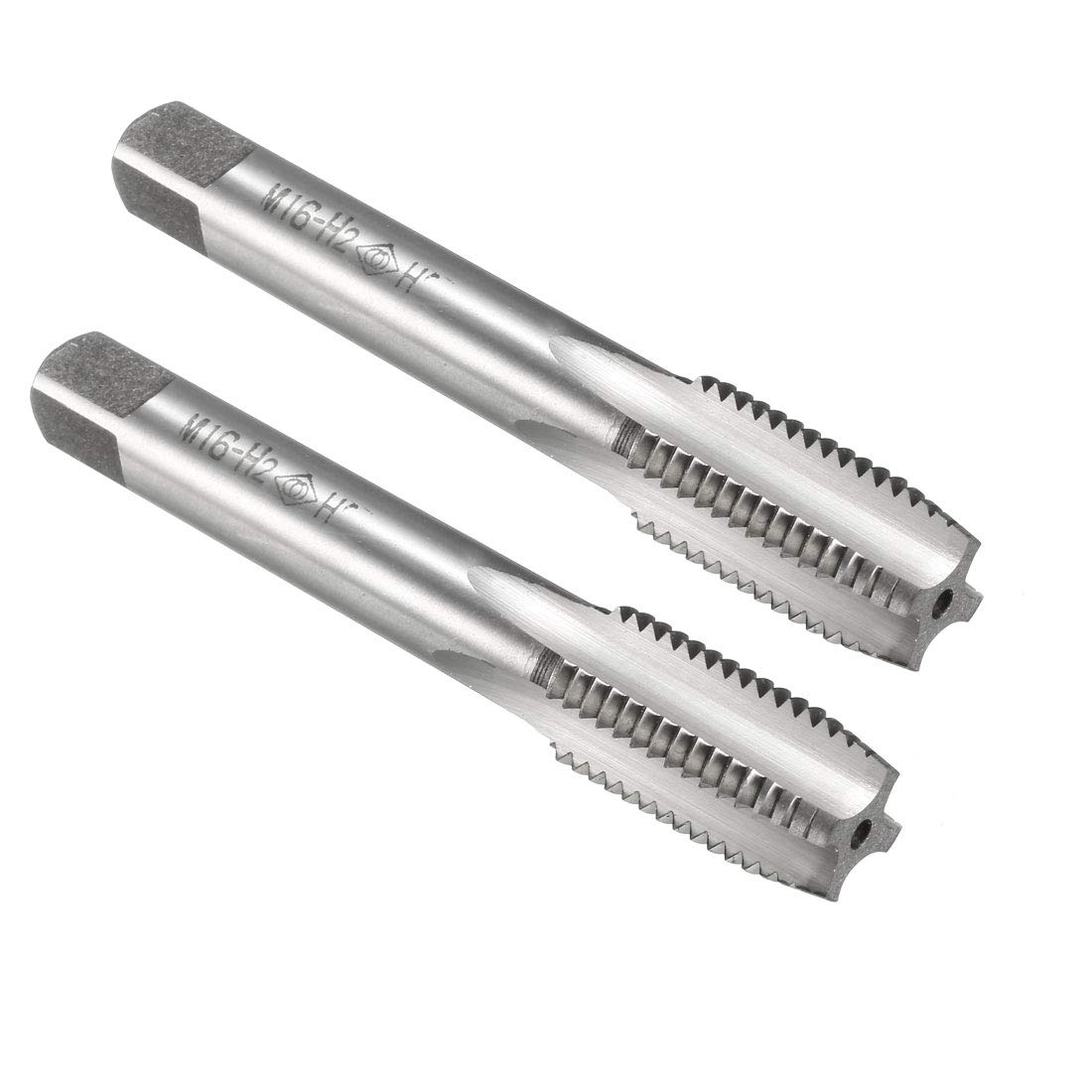 uxcell Metric Taps M8 Pitch H2 Right Hand Thread Plug Tap HSS for Threading Machine Electric Drill DIY