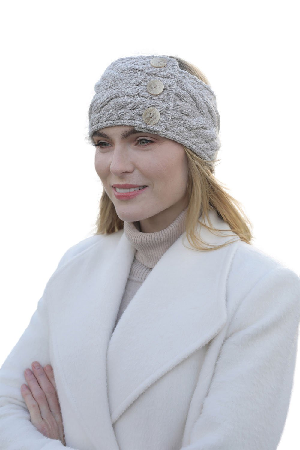 SuperSoft Merino Wool Multi Cable Knit Headband