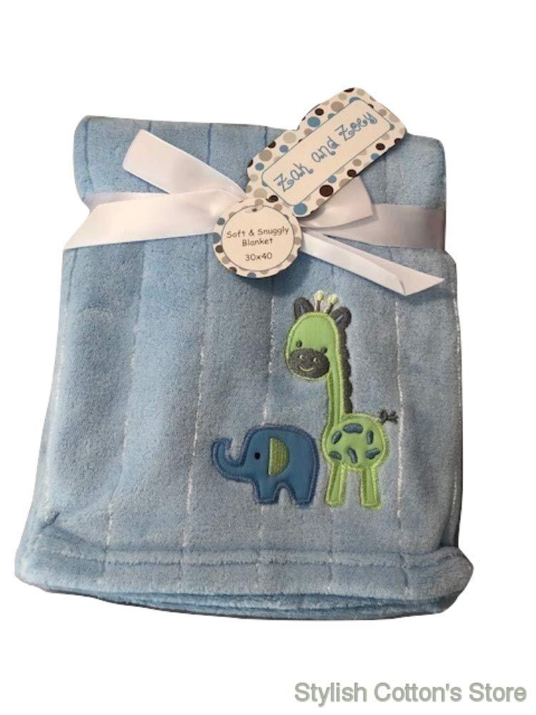 "New Zak and Zoey Soft /& Snuggly Baby Infant Boy Blue Blanket 30/"" x 30/"""