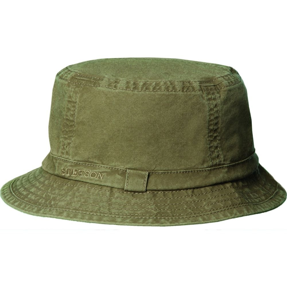 54cba523a023e5 Stetson Men's Gander Organic Cotton Bucket Hat at Amazon Women's Clothing  store: Shoe Accessories