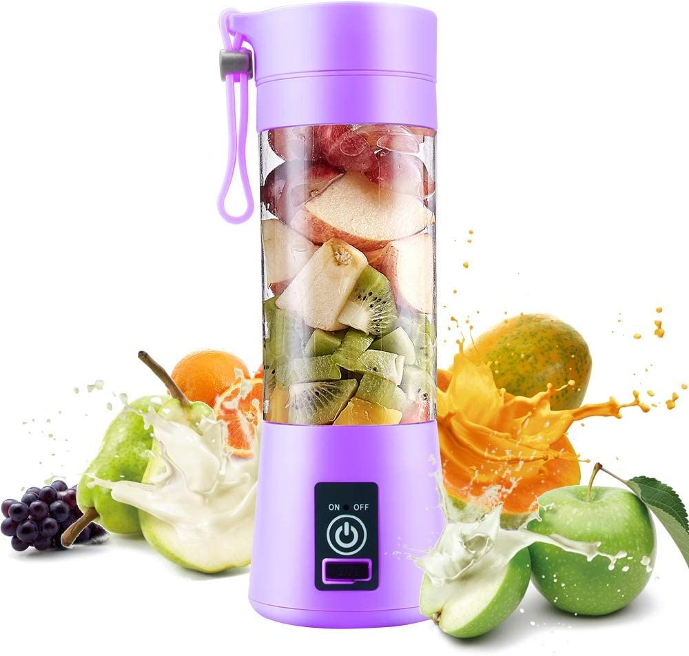 Blender, Smoothie Blender, Smoothie Maker, Mini Juice Blender, Milkshake and Smoothie (purple)