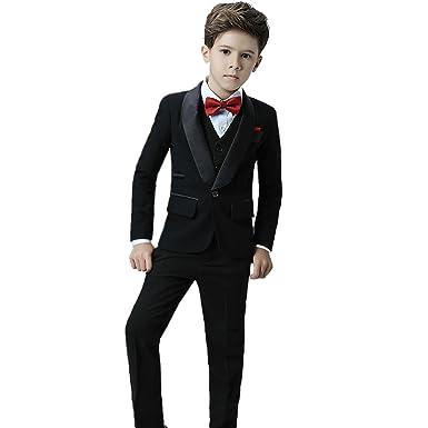Icegrey Costume Garçon 5 Pièces Smoking Garçon d honneur Mariage Page Boy  Costume pour Communion 7804c17e042