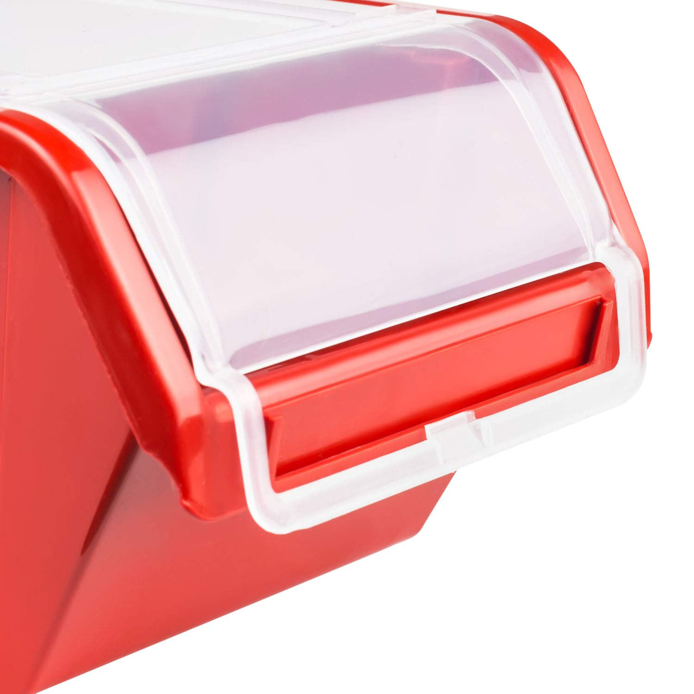Stapelbox Stapelkiste Sortierbox Box mit Deckel 160x230x120 Rot