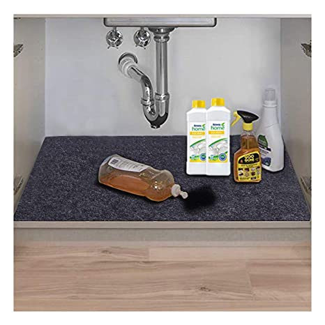 Astounding Under The Sink Mat Kitchen Tray Drip Cabinet Liner Fabric Layer Waterproof Layer Reusable Washable 36Inches X 24Inches Download Free Architecture Designs Crovemadebymaigaardcom