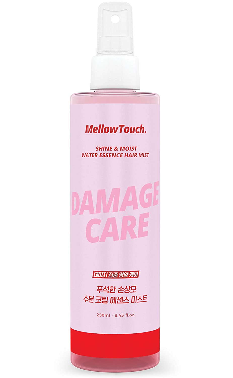 Mellow Touch Shine & Moist Water Essence Hair Mist, Leave In Treatment Spray with Calamus Root and Abyssinian Oil, Product of Korea - 8.45 fl. oz
