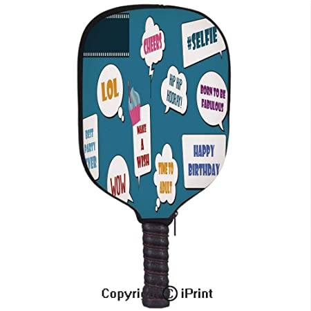 Amazon.com : Premium Neoprene Material, Soft, Thick Enough Protector Pickleball Paddle Cover, Colorful Photo Booth Props Set Vector illustration2(Size:8.23