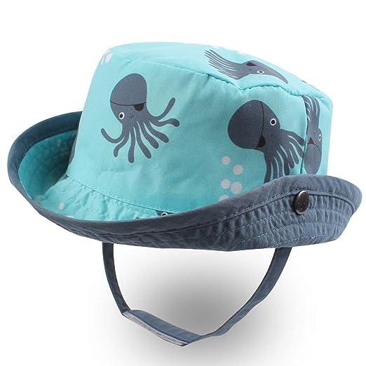 8270d7e890bcd7 XIAOHAWANG Baby Sun Hat Boys Girls Toddler Summer Bucket Outdoor Child  Beach Caps UPF 50+