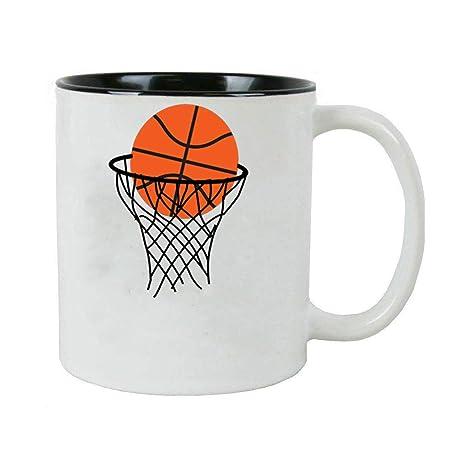 Amazon.com: Personalizado aro de baloncesto 11 oz blanco ...