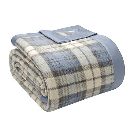 f30e0175b0 True North by Sleep Philosophy Micro Fleece Luxury Blanket Multi 10890 King  Size Plaid Premium Soft