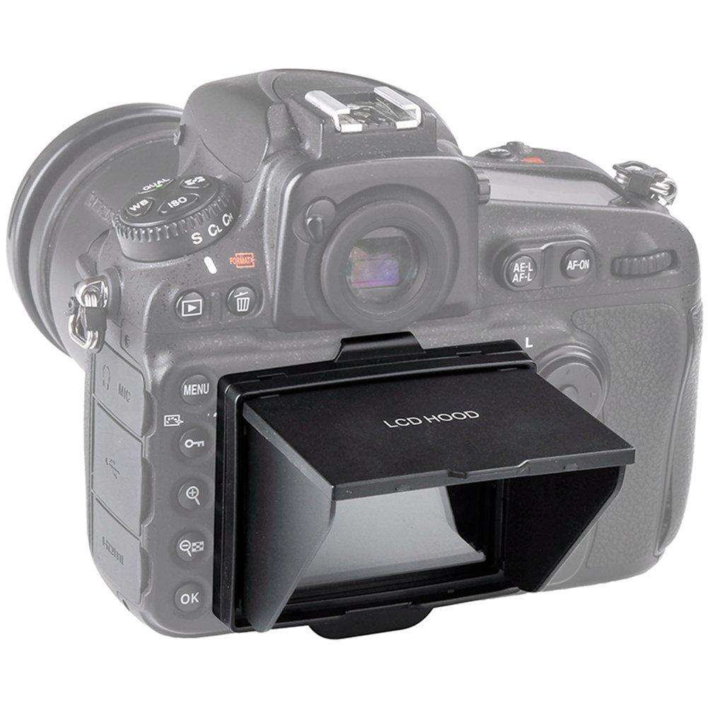 Sun Shield Pop-up LCD Hood,Sun Shade & Screen Protector for Camera LCD HOOD (Camera LCD HOOD-Nikon D800/D810)