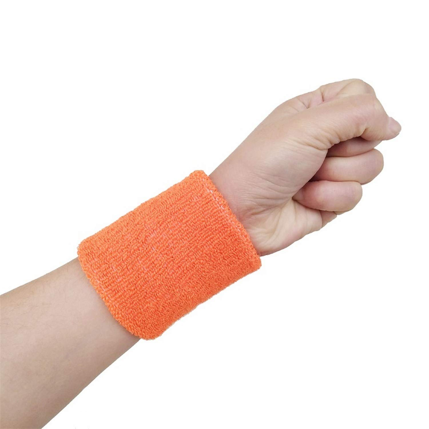 Excessed Wrist Sport Sweatband Hand Band Sweat Wrist Support Brace Wraps Guards for Gym Volleyball Basketball by Excessed