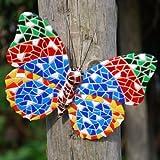 Mariposa decorativa, diseño en mosaico, multicolor